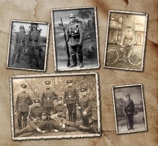 Kurtuvėnų dvaro svirne karinių uniformų paroda