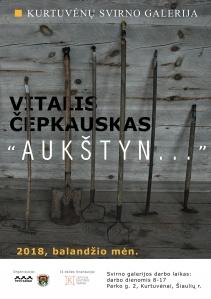 Kurtuvėnų svirno galerijoje Vitalio Čepkausko paroda