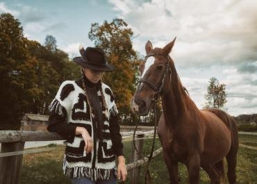 Fotosession mit den Reitpferden