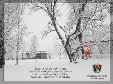 Kurtuvėnų regioninio parko direkcijos sveikinimas