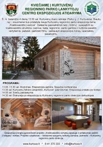 Kviečiame į Kurtuvėnų regioninio parko lankytojų centro ekspozicijos atidarymą!