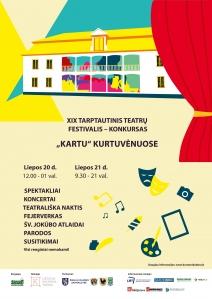 """Kviečiame į XIX tarptautinį teatrų festivalį - konkursą """"Kartu"""""""