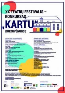 """XX Teatrų festivalis - konkursas """"KARTU"""" Kurtuvėnuose"""